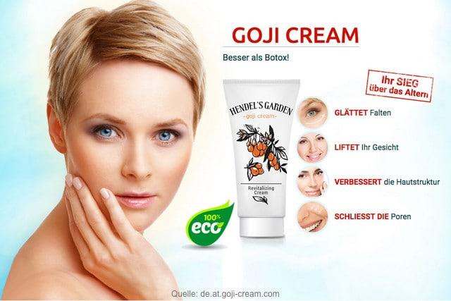 goji cream anti falten creme test erfahrungen hendels garden