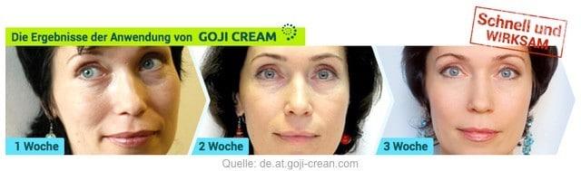 goji cream hendels garden erfahrungen test anti aging creme falten