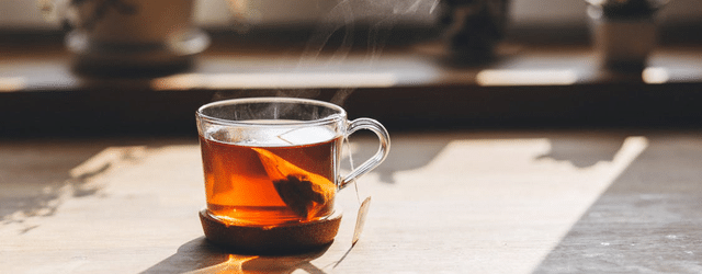 Tee abnehmen