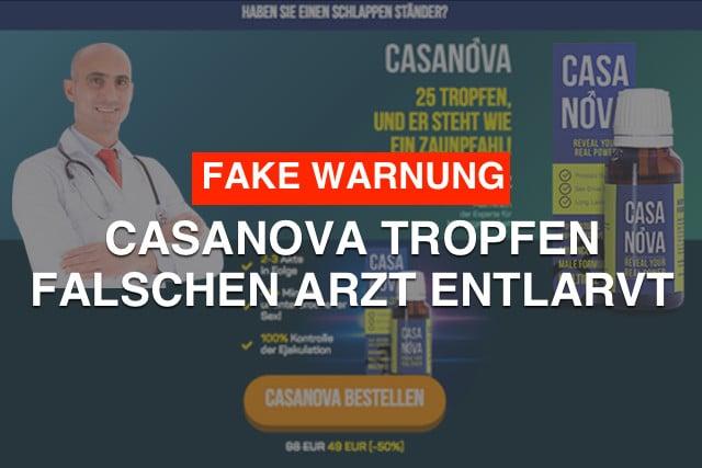 casanova tropfen beitrag Betrug fake aufgedeckt