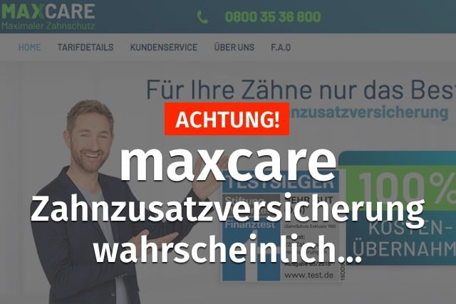 maxcare zahnzusatzversicherung