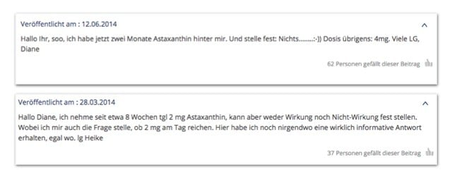 Astaxanthin gesundheitsschädlich