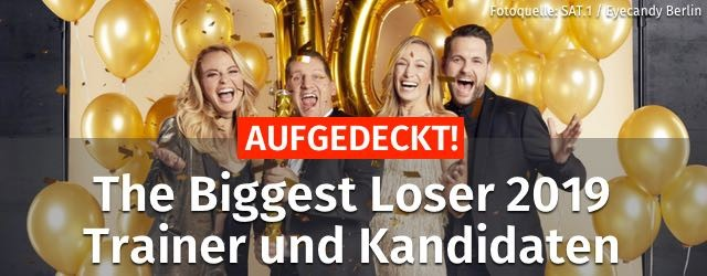 The Biggest Loser 2019 Trainer Kandidaten Star Jubiläum