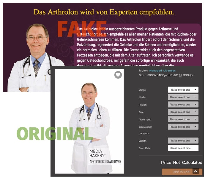 Angeblicher Experte Arthrolon Creme