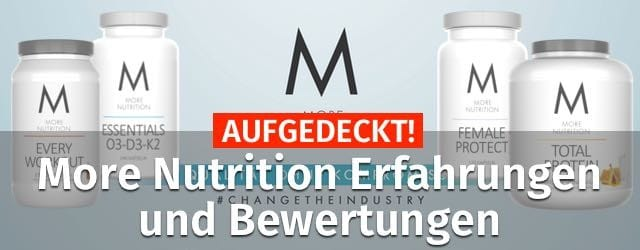 more nutrition erfahrungen bewertungen supplements